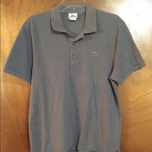Lacoste Size 6 Large L gray polo golf tennis shirt